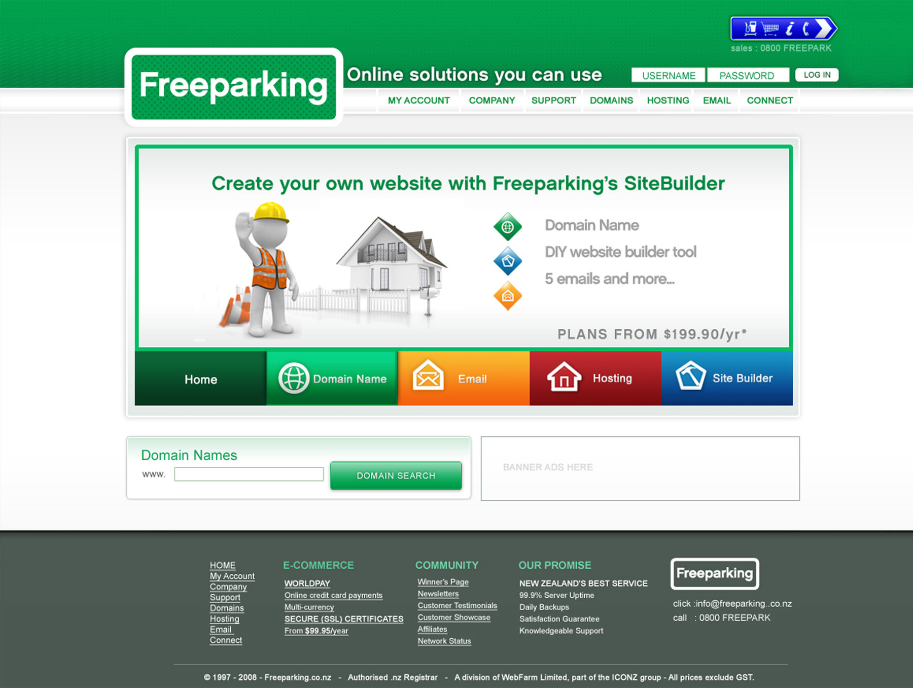 Freeparking Webdesign