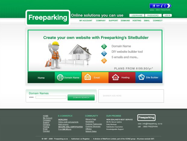 Freeparking Webdesign