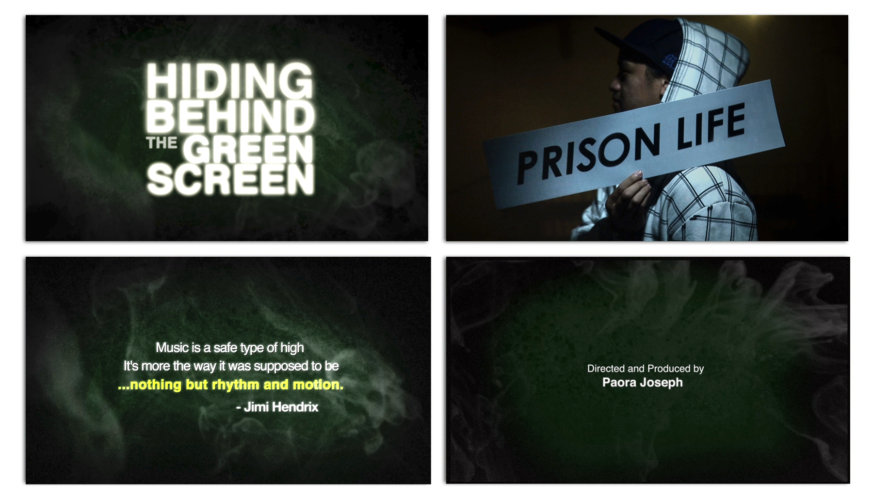 Hiding Behind the Green Screen – Sequence – In frames and in